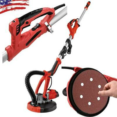 Drywall Sander 750w Commercial Electric Variable Speed Free Sanding Pad 110v Red