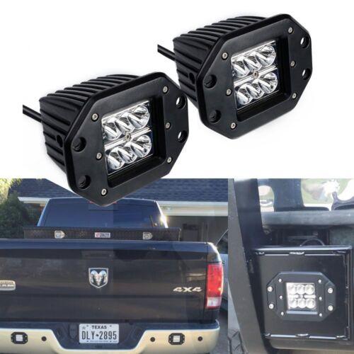 2X Dually Flush Mount LED Pods Cube Reverse Light