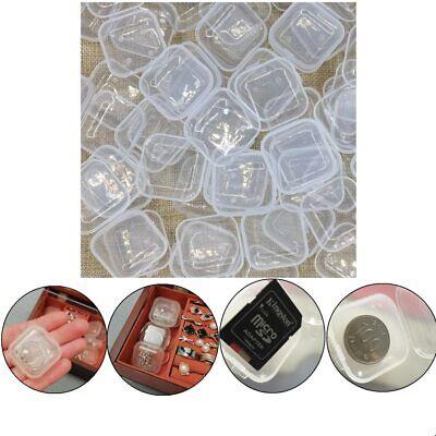 Mini Cute Storage Box Transparent Plastic Decorative Small Boxes Jewelry Office