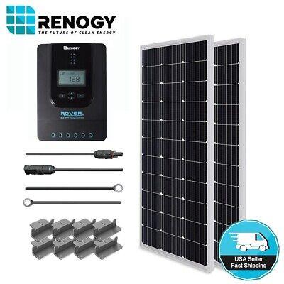 Grid Kit - Renogy 200 Watt Solar Panel Starter Kit MPPT Off Grid Battery Charging System RV