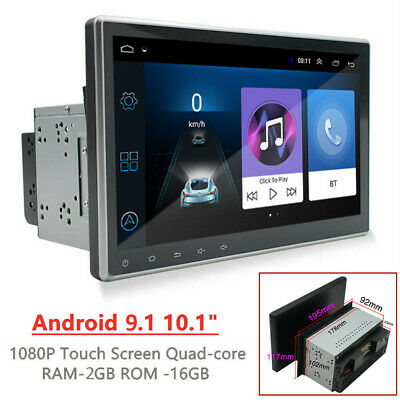 "Rotatable Android 9.1 10.1"" 2Din Car Stereo Radio GPS WiFi Quad-core MP5 Player"