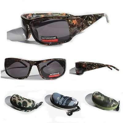 Camouflage Sunglasses (Men's Camouflage Sport Sunglasses Hunting Fishing Outdoor UV400 Camo Hard Case)