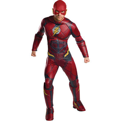 Mens Deluxe Flash Justice League Costume](Cheap Men Costumes)