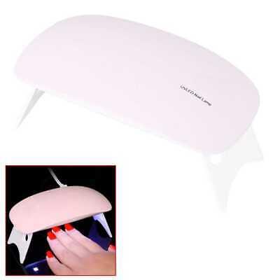 Lampara Secador de Uñas 6W LED UV Mano Viaje Nail Art DryesGel Plegable Rosa