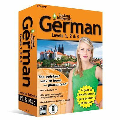 Instant Immersion Language Teaching Software Levels 1  2   3 Retail Box