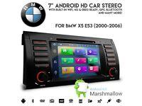 BMW E53 X5 Android 6.0 HD 1080p WiFi GPS 4G Ready Radio DVD USB SD Aux Car Stereo