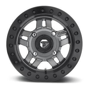 BLOWOUT! $825 for beadlock 14x7 Fuel Anza Gunmetal D917 4x156 for Polaris and Yamaha YXZ10008