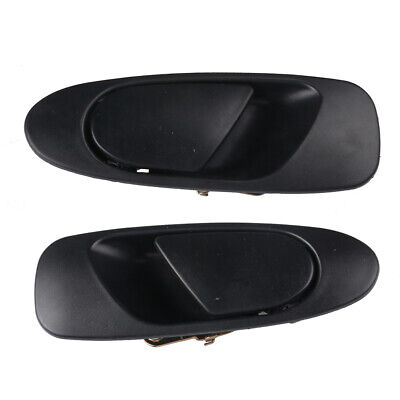 Door Handle Front Rear Left Right Exterior Outside Black For 92-95 Honda Civic ()