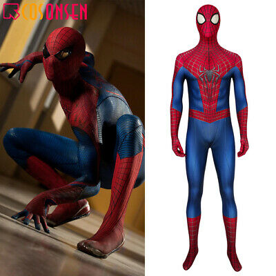 The Amazing Spider Man 2 Halloween Costume (The Amazing Spider-Man 2 Peter Parker Cosplay Costume Jumpsuit)