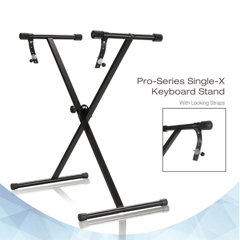 "New Black Keyboard Piano ""X"" Stand Electric Organ Rack Metal Height Adjustable"