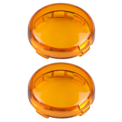Amber Turn Signal Lens Cover For Harley Touring Fl Electra Tour Glide Road King
