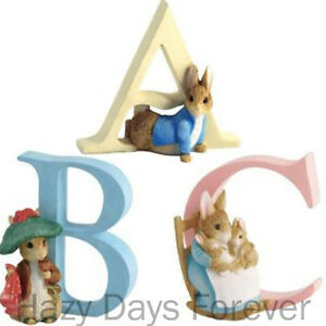 BEATRIX-POTTER-ALPHABET-LETTERS-Border-Fine-Arts-Figurines-Letter-Peter-Rabbit