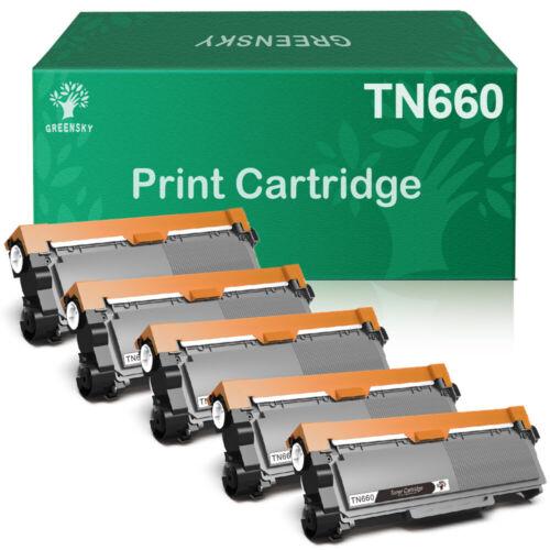 5 High Yield N660 TN630 Black Toner Cartridge For Brother
