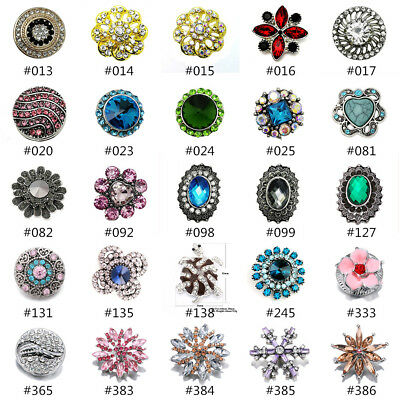 Pretty Charm Crystal Chunk Ginger Snap Button Fit For 18mm Noosa Jewelry ](Jewelry Snaps)