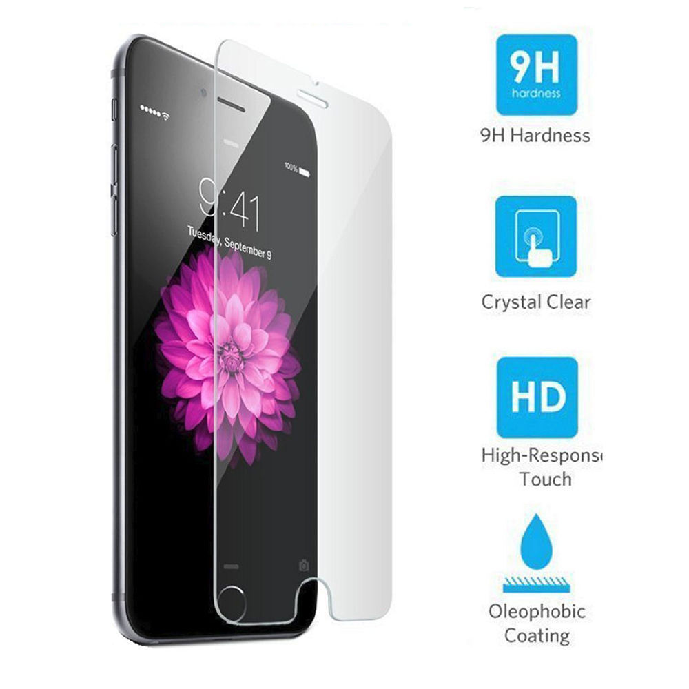 Tempered GLASS Screen Protector Bubble Free For iPhone 7 / For iPhone 7 Plus