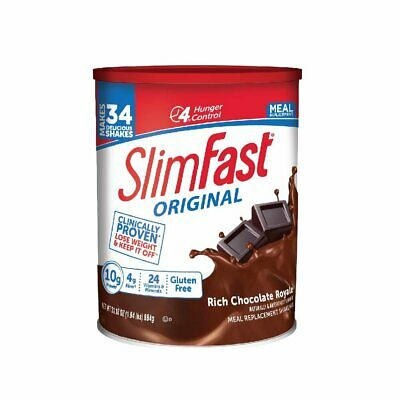 SlimFast Rich Chocolate  Meal Replacement Shake Mix- Weight Loss Powder 31.18oz Chocolate Shake Mix