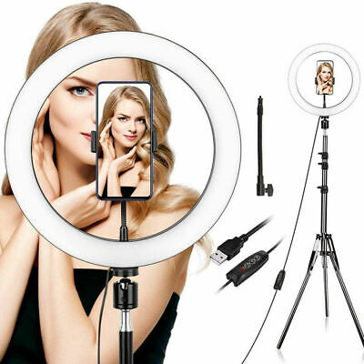"""10"""" LED Ring Light Live Makeup Video Photo With Desk Tripod Phone Holder youtube"""