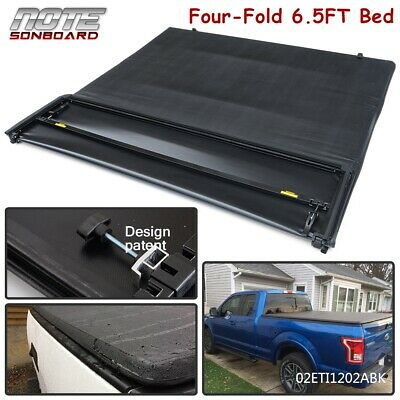 For 2004-2008 Ford F150 Waterproof Four Fold 6.5FT Truck Bed Soft Tonneau Cover