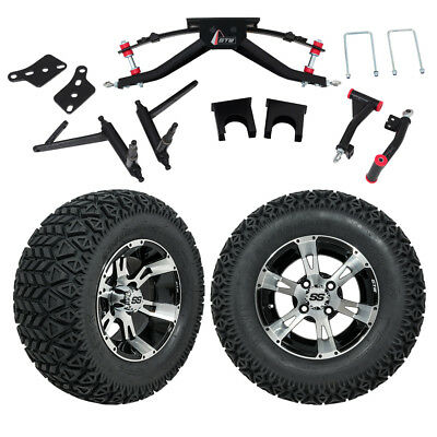 "GTW 6"" Club Car DS Golf Cart Lift Kit with A/T Tires and 12"" Wheels Fits 2004-Up"