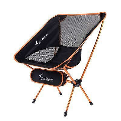 Sportneer Portable Lightweight Folding Camping Chair Backpacking Hiking (Lightweight Picnic Backpack)