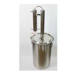 Stainless Steel Water Distiller Brew Kettle Maker Tank 170213