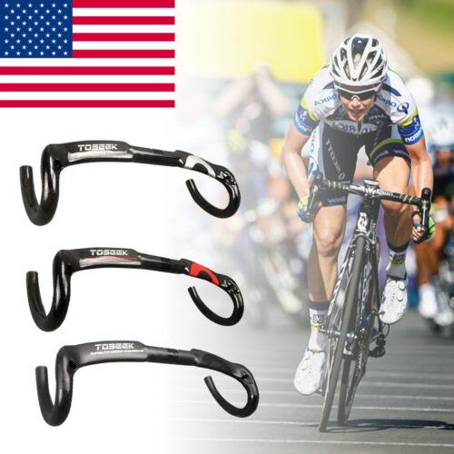 Carbon Road Bicycle Handlebars Cycling Racing Bike Parts Drop Bent Bar 31.8mm