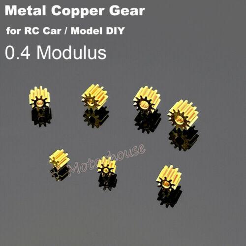 0.4 Modulus Metal Copper Gear 7/8/9/10/11/12 Teeth Motor Model Transmission Gear