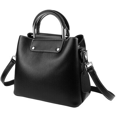 - Women Handbag With Top Handle Luxury Genuine Leather Crossbody Shoulder Bag Tote