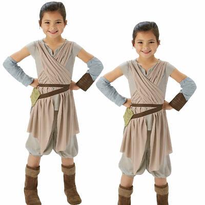 Ep7 Rey Deluxe Kinder Star Wars Kostüm Force Erwacht Mädchen - Rey Star Wars 7 Kostüm