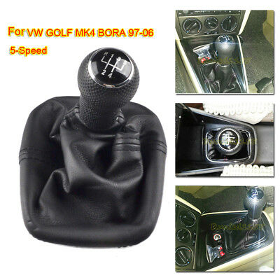 5 Speed for VW GOLF MK4 BORA 97-06 Gear Shift Knob Gaiter Boot Cover Frame 23mm