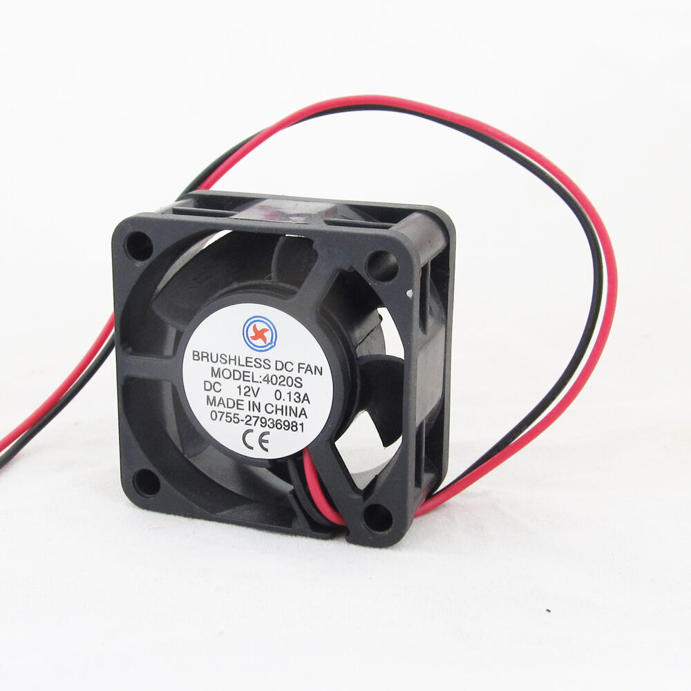 1pc Brushless DC Cooling Fan 40x40x20mm 4020 5 blades 12V 0.12A 2pin Connector