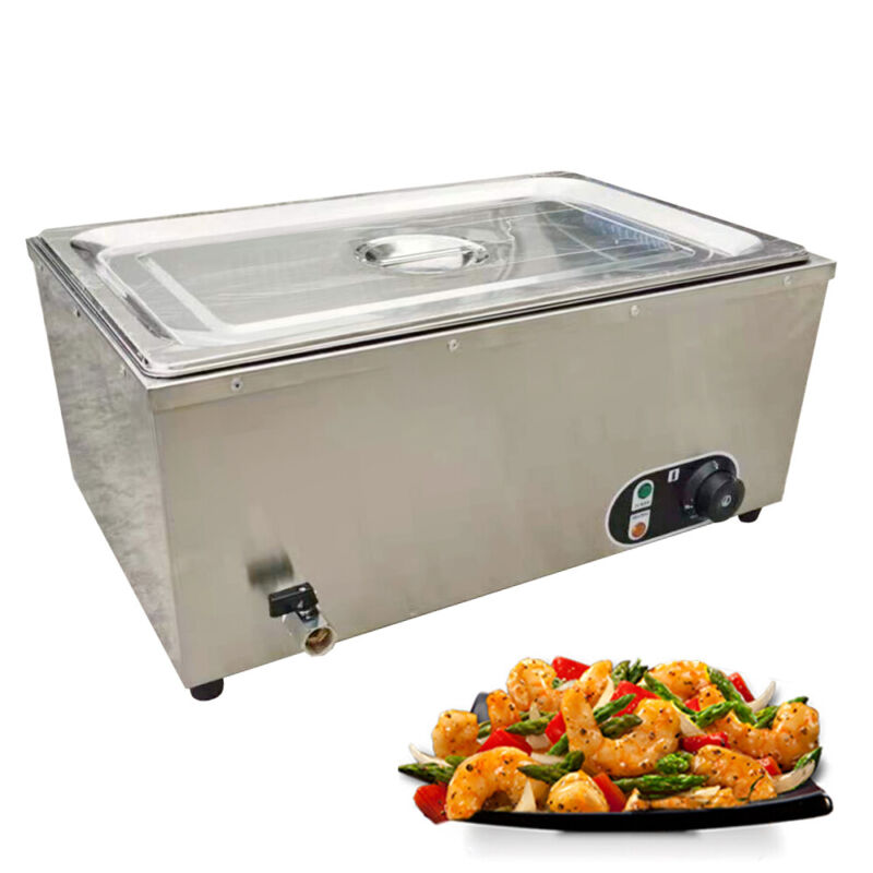 Electric Food Warmer Restaurant Heating Preservation Equipment Stainless 1.2KW