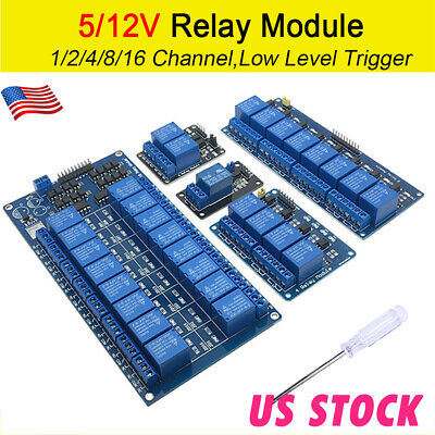 1-16 Channel 5v12v Relay Module Board For Arduino Raspberry Pi Arm Avr Dsp Pic