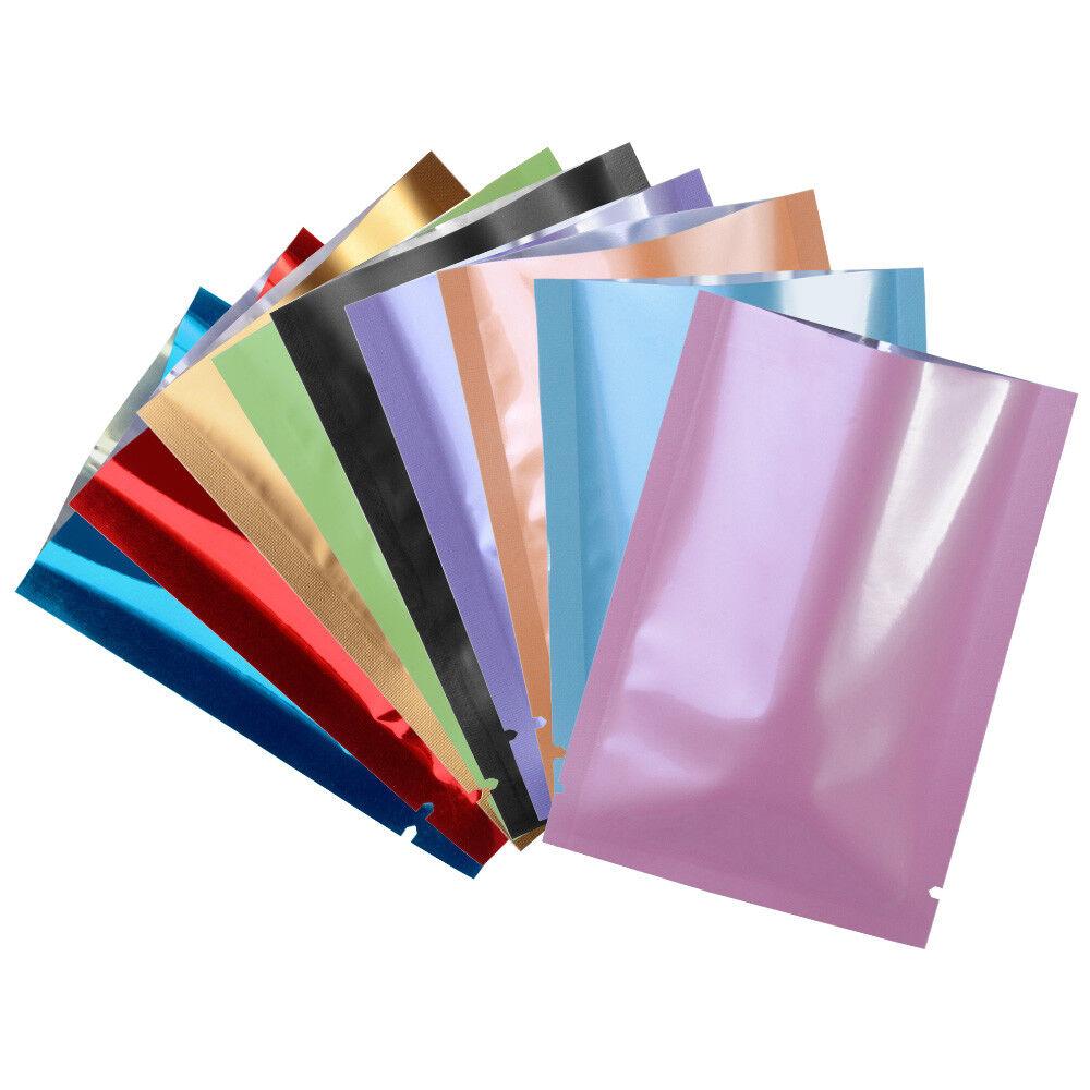 Glossy Colorful Aluminum Foil Bag Packaging Vacuum Sealable Mylar Food Storage