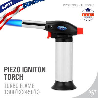 Windproof Butane Jet Lighter - Jet Torch Gun Lighter Welding Adjustable Flame Windproof Butane Refillable Gas