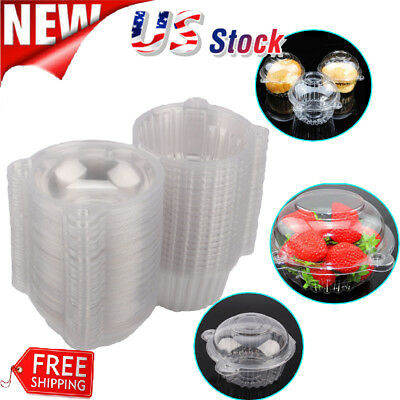 Lot Clear Plastic Single Cupcake Cake Case Muffin Pod Dome Holder Box Container - Single Cupcake Boxes