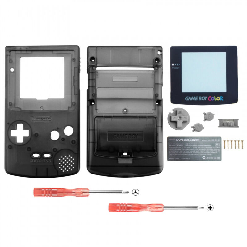 Full Housing Shell Replacement Part for Nintendo Game Boy Color GBC Design Black