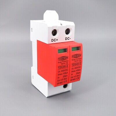 SPD DC 800V 20KA~40KA House Surge Protector Low-voltage Arrester Device Low Voltage Mini Housing