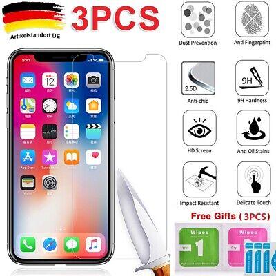 3x Panzerfolie Für iPhone 5 5S 5C SE 6 7 8 XS 11 Pro Max Schutzglas Displayfolie
