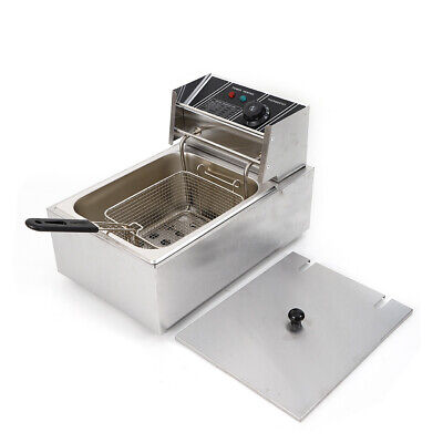 2500w 6l Electric Deep Fryer Stainless Steel Kit For Home Commercial Restaurant