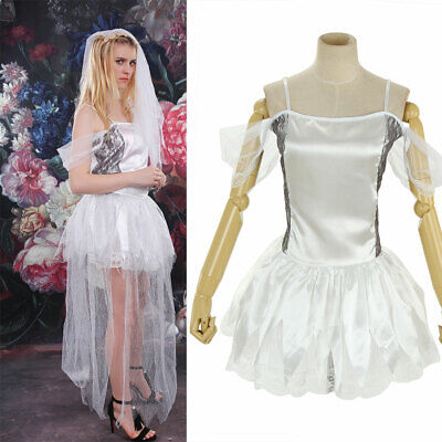 Bride Ghost Zombie Wedding Gown Party Women Dress Halloween Cosplay Costume](Zombie Bride Costumes)