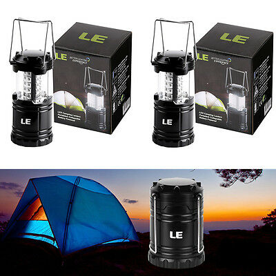 2pcs Portable Collapsible 30 LED Camping Lantern Outdoor Hiking Lights Work Lamp
