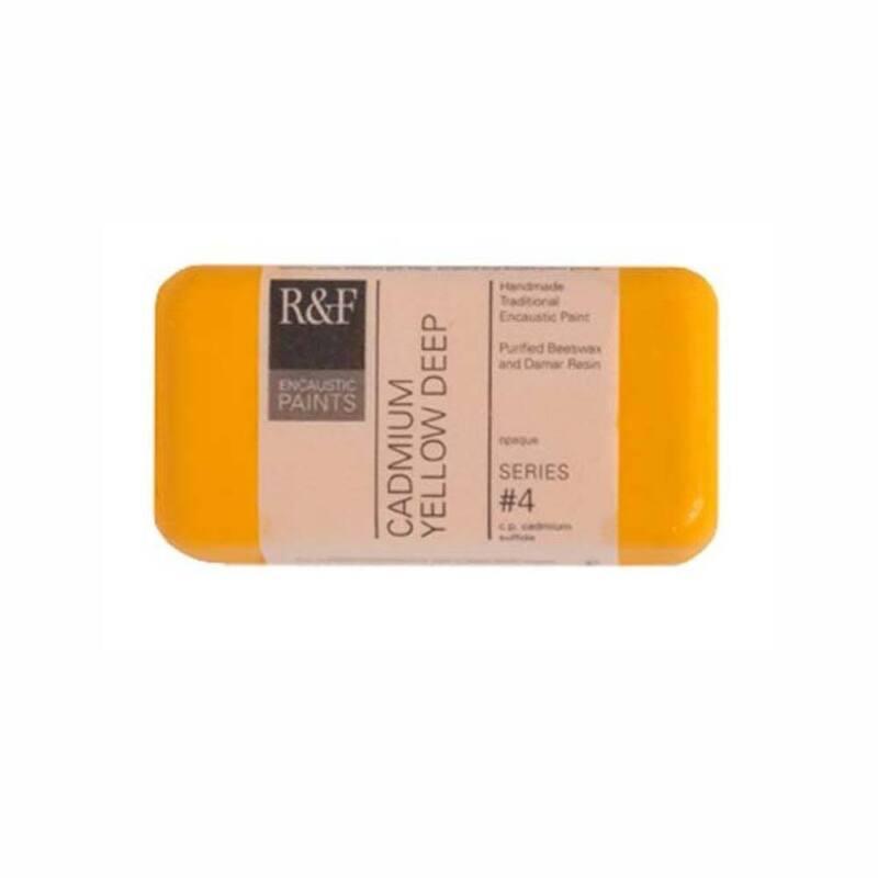 R&F Encaustic 40Ml Cadmium Yellow Deep