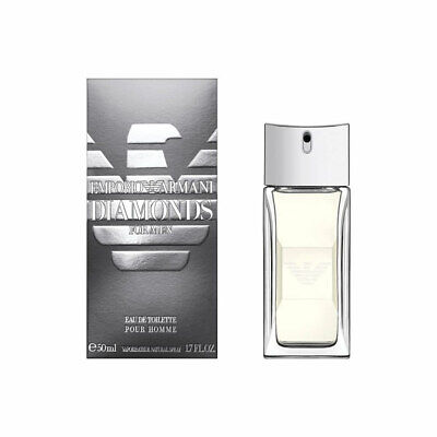 EMPORIO ARMANI DIAMONDS FOR MEN 50ML EAU DE TOILETTE SPRAY BRAND NEW & SEALED