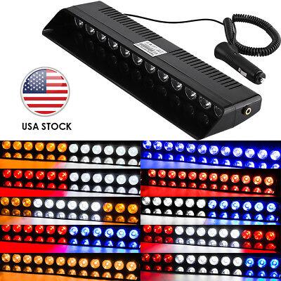 12 LED Car Emergency Warning Beacon Strobe Light Bar Windshield Dash Hazard Lamp ()