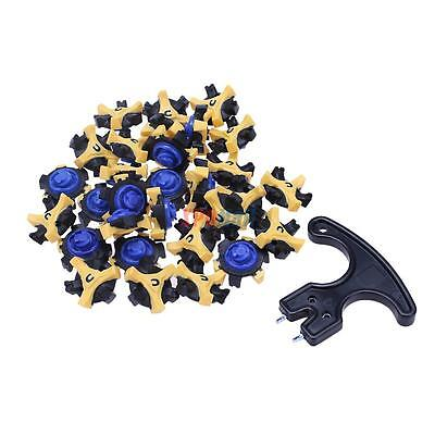 ddbd27c8abe 30x Golf Shoe Spikes Replacement Champ Cleat Fast Twist Screw Studs Stinger+ Tool