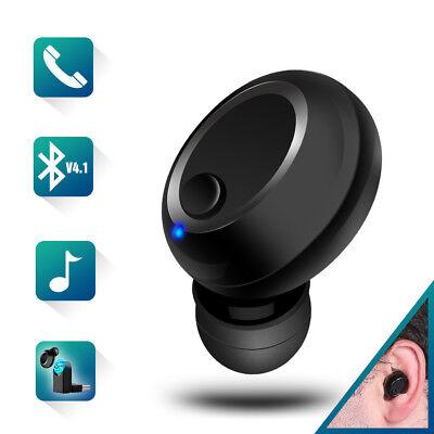 Bluetooth 4.1 In Ear Kopfhörer 1 earphone Headset Sport Musik HD Mic für Handy
