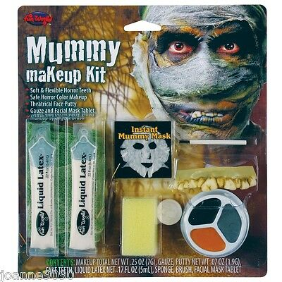 MUMMY MAKE UP KIT FACE PAINT HALLOWEEN HORROR FANCY DRESS SPECIAL EFFECTS - Mummy Face Paint Halloween