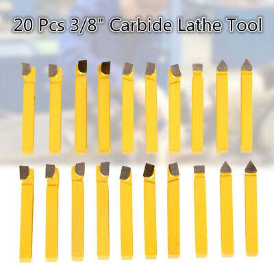 20pcs 8mm 38 Alloy Carbide Tipped Lathe Tools Milling Welding Bit C-2c6 Grade