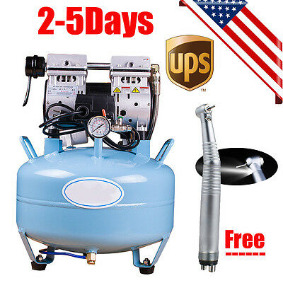 Medical Dental Air Compressor Noiseless Silent Quiet Oil-less Oil Free Handpiece